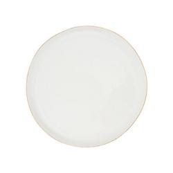 Abbesses Metallics Set of 4 medium plates, 21cm, gold rim