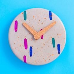 Blobs Wall clock, D31.5 x H3cm, multi-colour