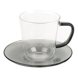 Colour Teacup and saucer, 300ml, smoke grey