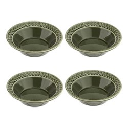 Botanic Garden Harmony Set of 4 cereal bowls, 16cm, green
