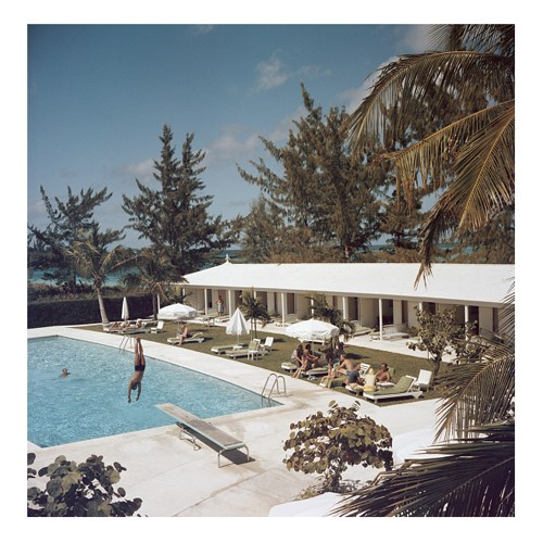 Slim Aarons - Taking The Plunge Framed photograph, H61 x W61cm
