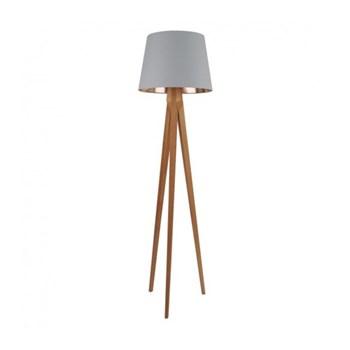 Tripod Wooden floor lamp, D49 x H180cm, grande grey