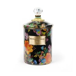 Flower Market Canister, medium, black