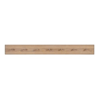 Wardley Coat rack, W122 x D2.5 x H13cm, natural oak