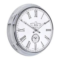 Campbell Royal Island Large wall clock, 51cm, chrome