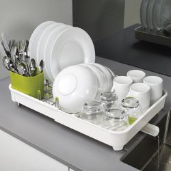 Extend Expandable dish rack, H16 x L36.5 x W32cm, White