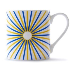 Burst Mug, H9 x D8.5cm, yellow/blue