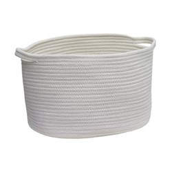 Rena Storage basket, L38 x W27 x H24cm, ivory
