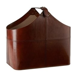 Buckled basket, H39 x W30 x D25cm, conker brown