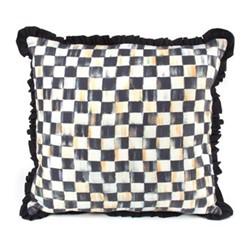 Courtly Check Square pillow, L45.72 x H45.72cm, black&white