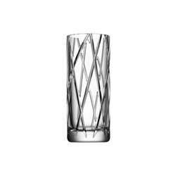 Explicit Stripe vase, H25 x W10.4cm, glass