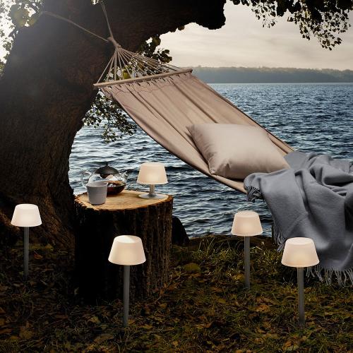 Sun Light Garden table lamp, White/Silver