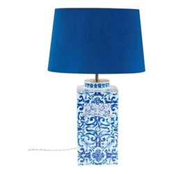 Lisbon Tiles Lamp, H44 x D17cm, blue