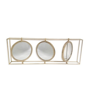 Triple mirror H48 x W136 x D13cm