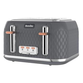 Curve - VTT912 Toaster, 4 slice, granite grey