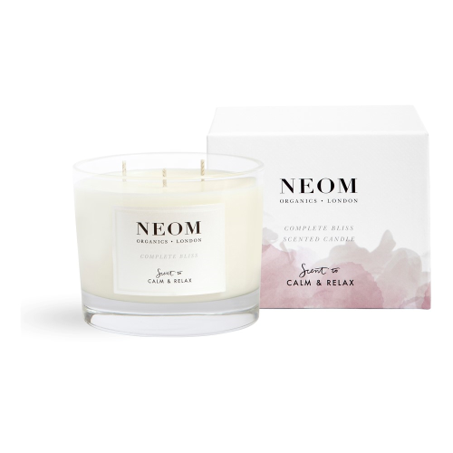Scent to Calm & Relax - Complete Bliss 3 wick scented candle, White