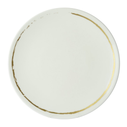Sketch - Chalk Coupe plate, 27cm, White/Gold