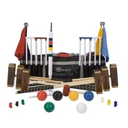 Pro 6 player pro croquet set, nylon bag