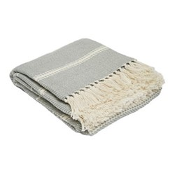 Oxford Stripe Throw, L230 x W130cm, dove grey