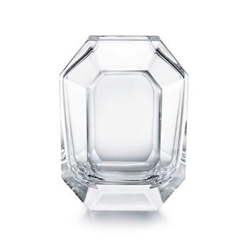 Octogone Vase, 25cm, clear