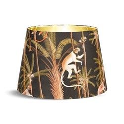 Barbados Cone lampshade with metallic gold lining, H30 x L45 x W45cm, multi