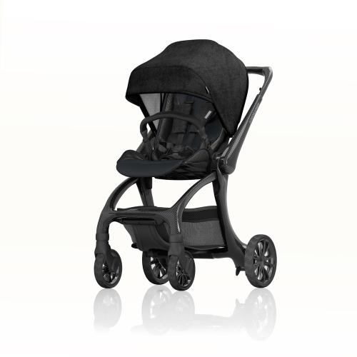 J-carbon Stroller with spoked wheels, Carbon fibre, H112 x W58 x L76cm