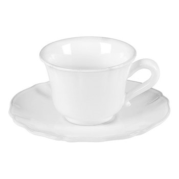 Alentejo Set of 6 teacups and saucers, 22cl, white