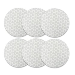 Helice Chalk Set of 6 round tablemats, 25cm, chalk/white