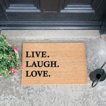 Live Laugh Love Doormat , L60 x W40 x H1.5cm