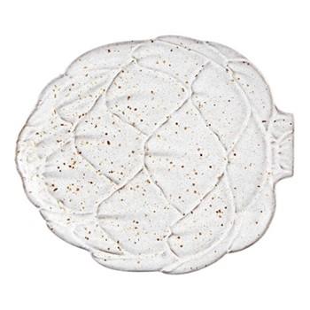 Artichoke Set of 4 fruit plates, 23.8  x 20.3cm, white