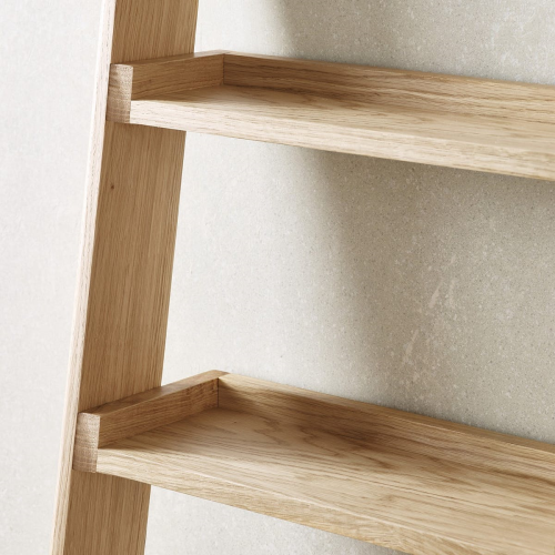 Ladder shelf, 180 x 48 x 35cm, Oak