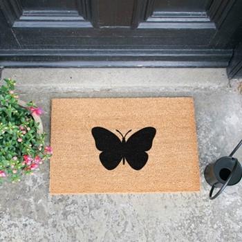 Butterfly Doormat , L60 x W40 x H1.5cm
