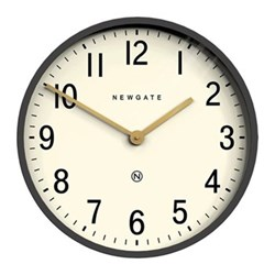 Mr Edwards Wall clock, 45 x 45 x 9cm, matte blizzard grey