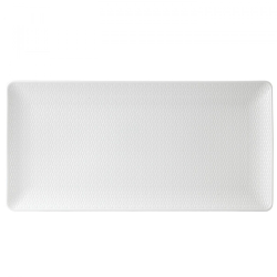 Gio Rectangular server, 32cm, White/ Bone China