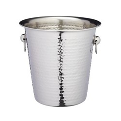 Bar Craft Luxury wine/champagne cooler bucket, hammered metal