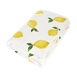 Lemons Quilt, H220 x W230cm, white