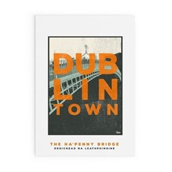 Dublin Town Collection - Ha'Penny Bridge Framed print, A2 size, multicoloured