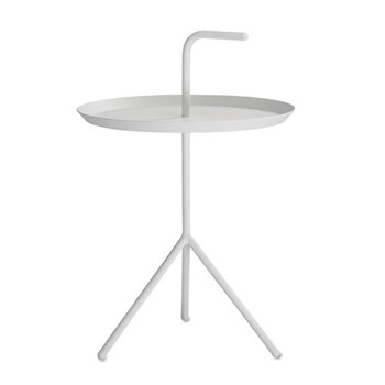 DLM Side table with handle, H58 x W38 x D38cm, white