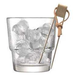Mixologist Cocktail ice bucket and tongs, 14cm