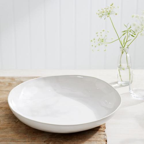 Portobello Low serving bowl, W28 x L41cm, white