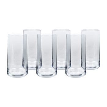 Hoxton Set of 6 water glasses, H15 x W7.7cm, clear