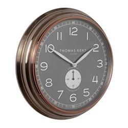Greenwich Timekeeper No4 Large wall clock, 51cm, brass/grey