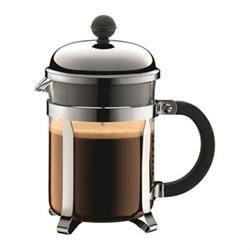 Chambord 4 cup coffee maker, 0.5 litre, silver/black