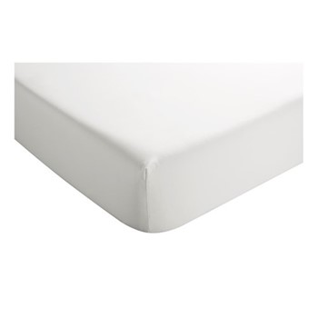 400 Thread Count Sateen Deep super king size fitted sheet, L180 x W200 x D36cm, white