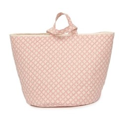Cadogan Check Storage basket, 70 x 40cm, rose