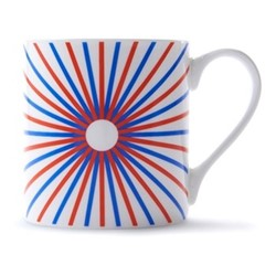 Burst Mug, H9 x D8.5cm, red/blue