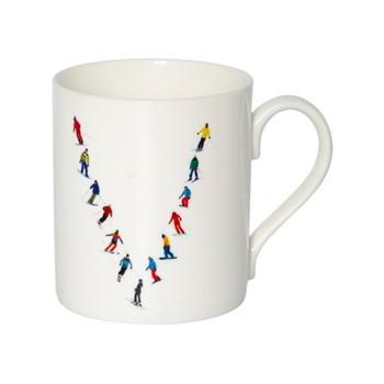 Alphabet - V Mug, H9.5 x W10.5 x D8.5cm - 35cl, muti