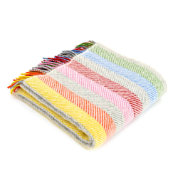 Stripes Throw, 150 x 183cm, Rainbow Grey Stripe