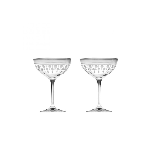 Nouveau Pair of champagne saucers, 210ml, Crystal