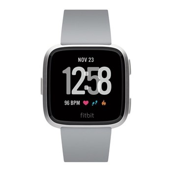 Fitbit Versa Health & fitness smartwatch with heart rate monitor, W4.1 x D25.6cm, silver aluminium